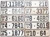 1934 Kansas Full Run all 105 Counties bulk lot license plates