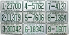 1950 Kansas Full Run all 105 Counties bulk lot license plates