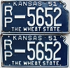 1951 Kansas pair # 5652, Republic County
