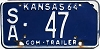 1964 Kansas Commercial Trailer # 47, Saline County