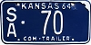 1964 Kansas Commercial Trailer # 70, Saline County
