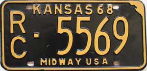 1968 Kansas Midway USA # 5569, Rice County