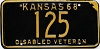 1968 Kansas Disabled Veteran # 125