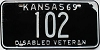 1969 Kansas Disabled Veteran # 102