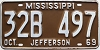 1969 Mississippi # B497, Jefferson County
