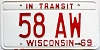 1969 Wisconsin In Transit # 58 AW
