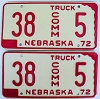 1972 Nebraska Commercial Truck pair low # 5, Furnas County