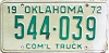1972 Oklahoma Commercial Truck # 544-039