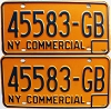 1973 New York Commercial pair # 45583-GB