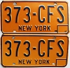 1973 base New York pair # 373-CFS
