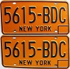 1973 base New York pair # 5615-BDC