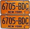 1973 base New York pair # 6705-BDC