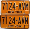 1973 base New York pair # 7124-AVM