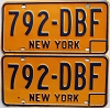 1973 base New York pair # 792-DBF