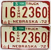 1975 Nebraska Commercial Truck pair # 2360, Seward County