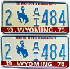 1975 Wyoming Bicentennial pair # AI484, Laramie County