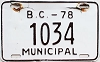1978 British Columbia Municipal # 1034