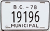 1978 British Columbia Municipal # 19196