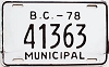 1978 British Columbia Municipal # 41363