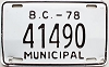 1978 British Columbia Municipal # 41490