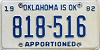 1982 Oklahoma Apportioned # 818-516