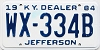 1984 Kentucky Dealer # WX-334B, Jefferson County