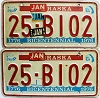1984 Nebraska bicentennial graphic pair # B102, Butler County