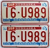 1984 Nebraska bicentennial graphic pair # U989, Seward County