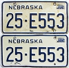 1985 Nebraska pair # E553, Butler County