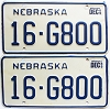 1985 Nebraska pair # G800, Seward County