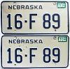 1986 Nebraska pair # F89, Seward County