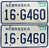 1986 Nebraska pair # G460, Seward County