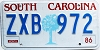 1986 South Carolina graphic # ZXB-972