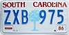 1986 South Carolina graphic # ZXB-975