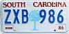 1986 South Carolina graphic # ZXB-986