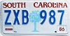 1986 South Carolina graphic # ZXB-987
