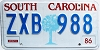 1986 South Carolina graphic # ZXB-988