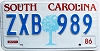 1986 South Carolina graphic # ZXB-989