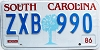 1986 South Carolina graphic # ZXB-990