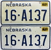 1987 Nebraska pair # A137, Seward County