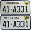 1987 Nebraska pair # A331, Polk County