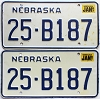 1987 Nebraska pair # B187, Butler County