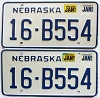 1987 Nebraska pair # B554, Seward County
