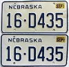 1987 Nebraska pair # D435, Seward County