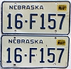 1987 Nebraska pair # F157, Seward County