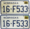 1987 Nebraska pair # F533, Seward County