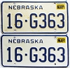 1987 Nebraska pair # G363, Seward County