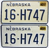 1987 Nebraska pair # H747, Seward County
