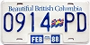 1988 British Columbia Flag graphic Truck # 0914-PD