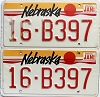1988 Nebraska pair # B397, Seward County